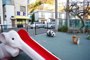 汐入駅近くの公園